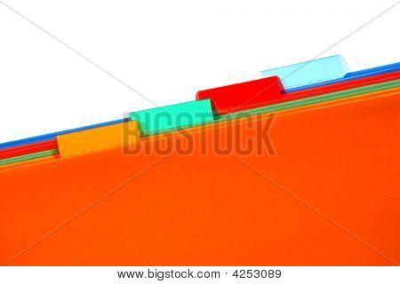 Carpetas de archivo con fichas