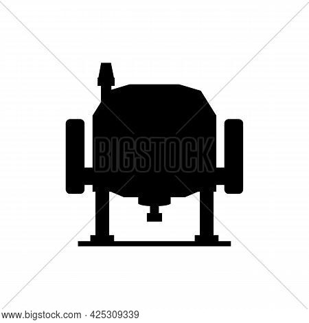Electric Wood Plunge Router. Power Tool. Vector Drawing On White Background.