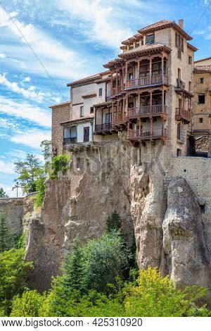 Hanging houses in the old town of Cuenca, Castilla-La Mancha, Spain
