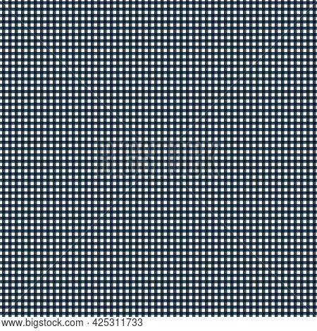 Seamless Checkered Pattern With Hand Drawn Gingam Black And White Checks