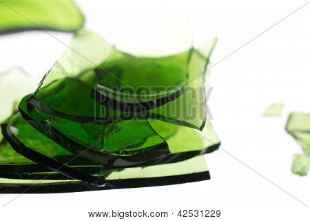 Green Pile Of Glass