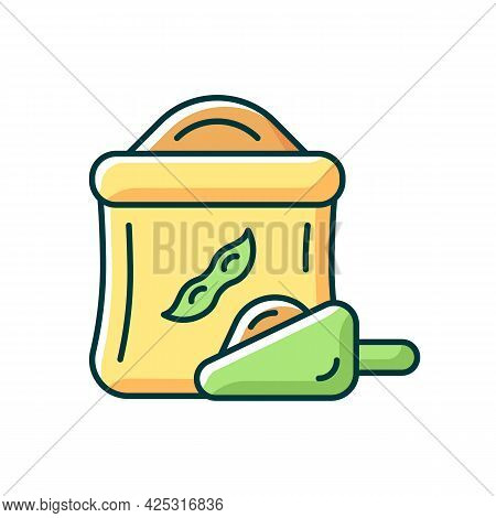 Kinako Rgb Color Icon. Isolated Vector Illustration. Healthy Soybeans Based Flour. Organic Meals Ing