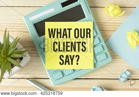 What Our Clients Say Man Hand On Table Business, Coffee, Split Tone