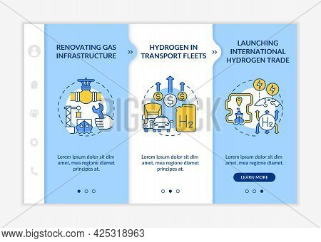 Green Energy Promotion Onboarding Vector Template. Responsive Mobile Website With Icons. Web Page Wa