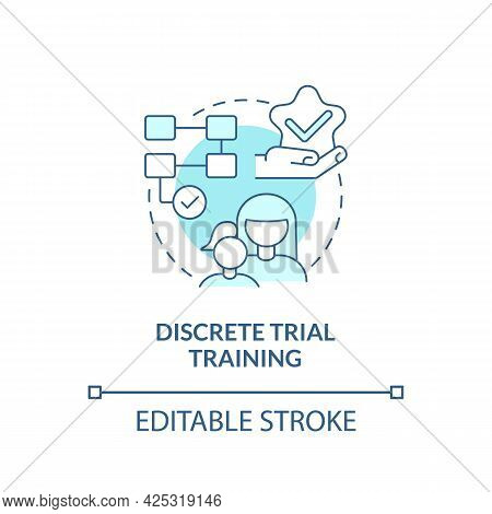Discrete Trial Training Concept Icon. Autistic Behavior Correction Abstract Idea Thin Line Illustrat