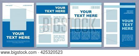 Tourism-related Service Brochure Template. Flyer, Booklet, Leaflet Print, Cover Design With Copy Spa