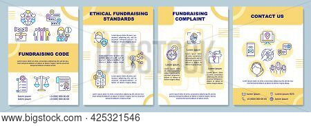 Fundraising Code Brochure Template. Ethical Fundraising Standards. Flyer, Booklet, Leaflet Print, Co