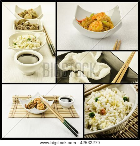 Photo composition with some chinese plate