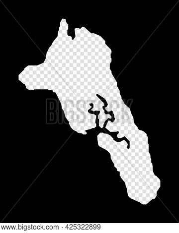 Stencil Map Of Havelock Island. Simple And Minimal Transparent Map Of Havelock Island. Black Rectang