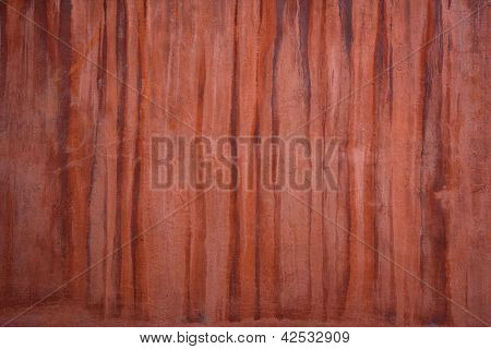 Red Brown Wall Texture  With Drips