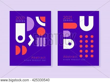 Poster Designs With Abstract Modernism Shapes And Geometric Pattern Graphics