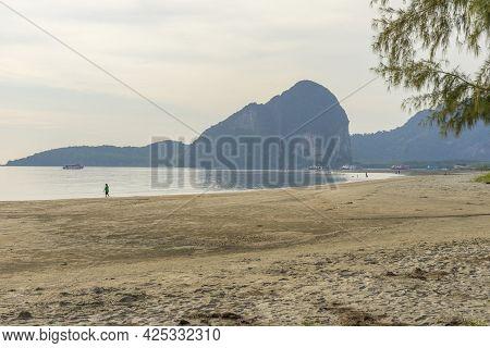 Boats Resting At Pak Meng Pier, Trang Province, Thailand.