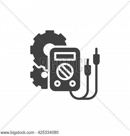 Electrical Engineering Vector Icon. Filled Flat Sign For Mobile Concept And Web Design. Digital Mult