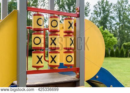 Big Yellow Tic Tac Toe Game On The Playground
