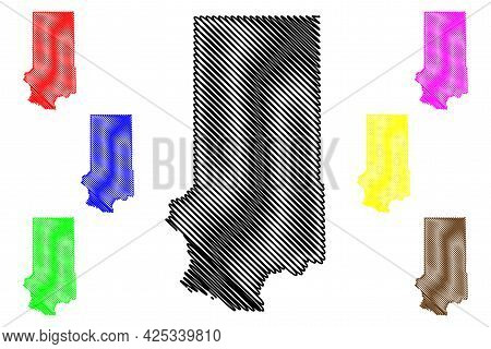 Trempealeau County, State Of Wisconsin (u.s. County, United States Of America, Us) Map Vector Illust