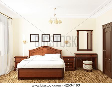 3D rendering of home bedroom