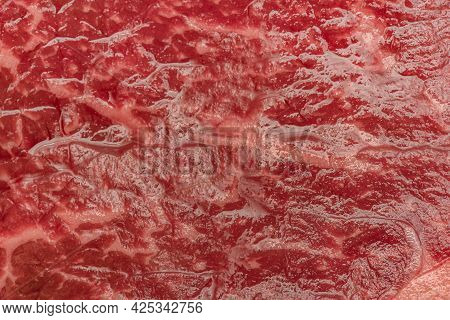 A Piece Of Raw Beef. Steak Cooking Process. The Meat. Beef, Meat, Raw