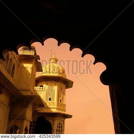 A heritage building or landmark from Rajasthan, India.