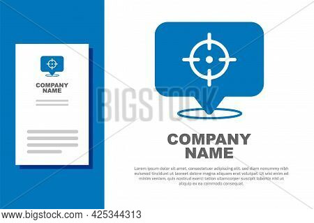 Blue Target Financial Goal Concept Icon Isolated On White Background. Symbolic Goals Achievement, Su