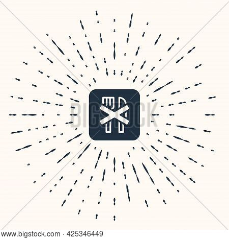Grey Ramadan Fasting Icon Isolated On Beige Background. Religious Fasting. Abstract Circle Random Do