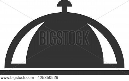 Vector Icon Of A Restaurant Serving Tray For Serving Hot Dishes.