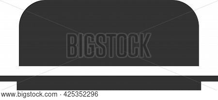Black Vector Icon Of A Butter Dish For Butter.