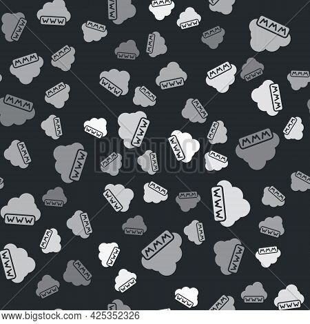 Grey Software, Web Development, Programming Concept Icon Isolated Seamless Pattern On Black Backgrou