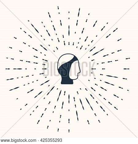 Grey Diving Hood Icon Isolated On Beige Background. Spearfishing Hat Winter Swim Hood. Diving Underw