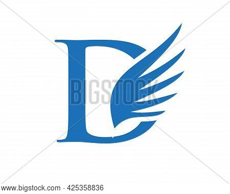 Wing Logo With D Letter Concept. D Letter Logo With Wing