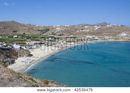 Kalo Livadi Beach In Mykonos Island
