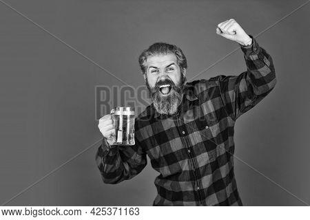 Beer Pub. Bartender Bar. Refresh Your Spirit. Modern Hipster Getting Drunk. Welcome Drink. Brutal Be