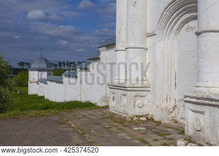 Ancient Fortress Wall Of The Holy Trinity Danilov Monastery In Pereslavl-zalessky, Yaroslavl Region,