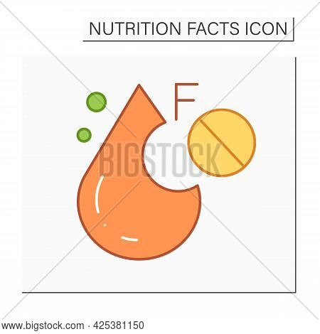 Monounsaturated Fat Line Icon. Oleic Acid. Fatty Acid.macronutrients. Nutrition Facts. Healthy, Bala