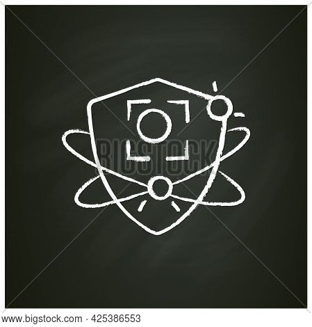 Pathogen Substances Fight Chalk Icon. Immunity Strengthening Concept. Immunology. Body Defence Syste