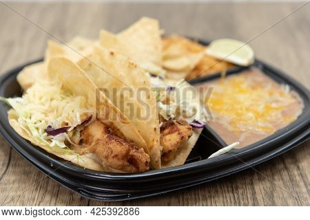 Crispy Deep Fried, Fish Tacos, Breaded To Perfection For That Hungry Appetite.