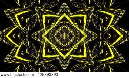 Abstract Beautiful Line Flowers Background, 3d Render Computer Generated Backdrop