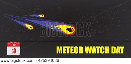 Card For Event June Day Meteor Watch Day
