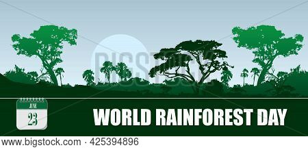 Card For Event June Day World Rainforest Day