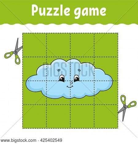 Puzzle Game For Kids. Education Developing Worksheet. Learning Game For Children. Color Activity Pag