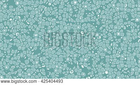 Cellular Abstract Background. Green Cells. Vector Illustration.