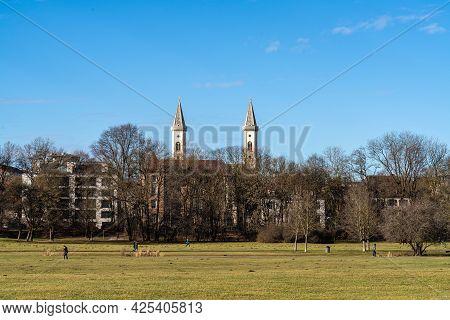 Munich, Germany - Oct 01, 2020: The Catholic Parish And University Church St. Louis, Called Ludwigsk