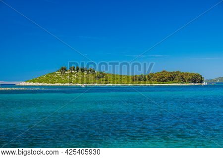 Amazing Islands On Adriatic Sea In Croatia, Near Town Of Pakostane