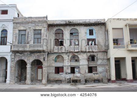 Facade Of Buildings In Havana Malecon Street