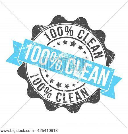 100% Clean. Stamp Impression With The Inscription. Old Worn Vintage Stamp. Stock Vector Illustration