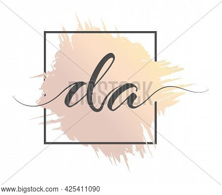 Calligraphic Lowercase Letters With A Calligraphic Lowercase Letters Da Are Written In A Solid Line