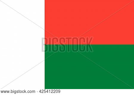 National Flag Of Republic Of Madagascar In The Original Colours And Proportions(2:3)