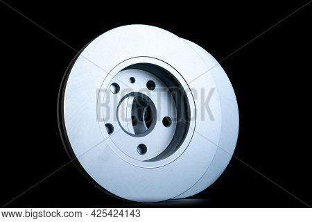 Car Construct. New Metal Car Part. Auto Motor Mechanic Spare Or Automotive Piece Isolated On Dark Ba
