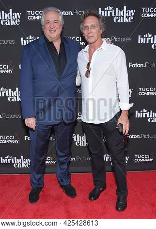 LOS ANGELES - JUN 16: Nick Vallelonga and William Fichtner arrives for 'The Birthday Cake'  Premiere on June 16, 2021 in Los Angeles, CA