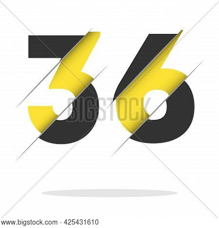 36 3 6 Number Logo Design With A Creative Cut And Black Circle Background. Creative Logo Design.