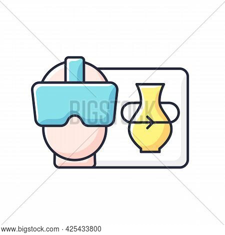 Vr Rgb Color Icon. Virtual Reality For Interactive Classes. Innovative Film Production. Headset For